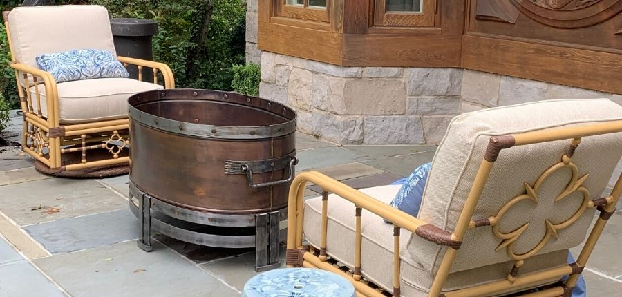 jatex-flaming-gorge-copperstone-firepit-on-site
