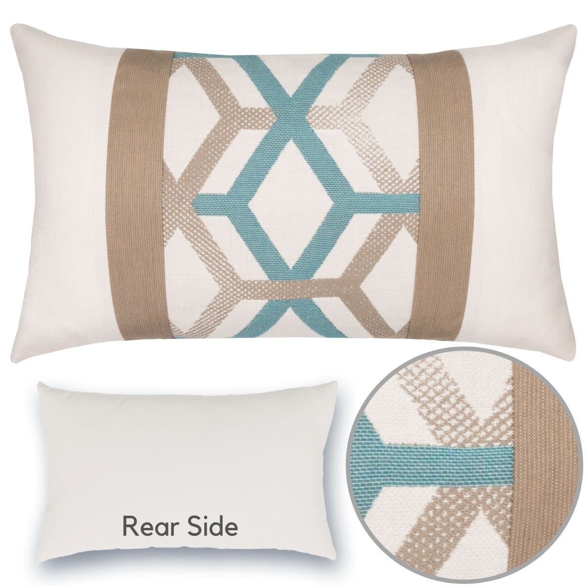 lagoon-lines-lumbar pillow by Elaine Smith