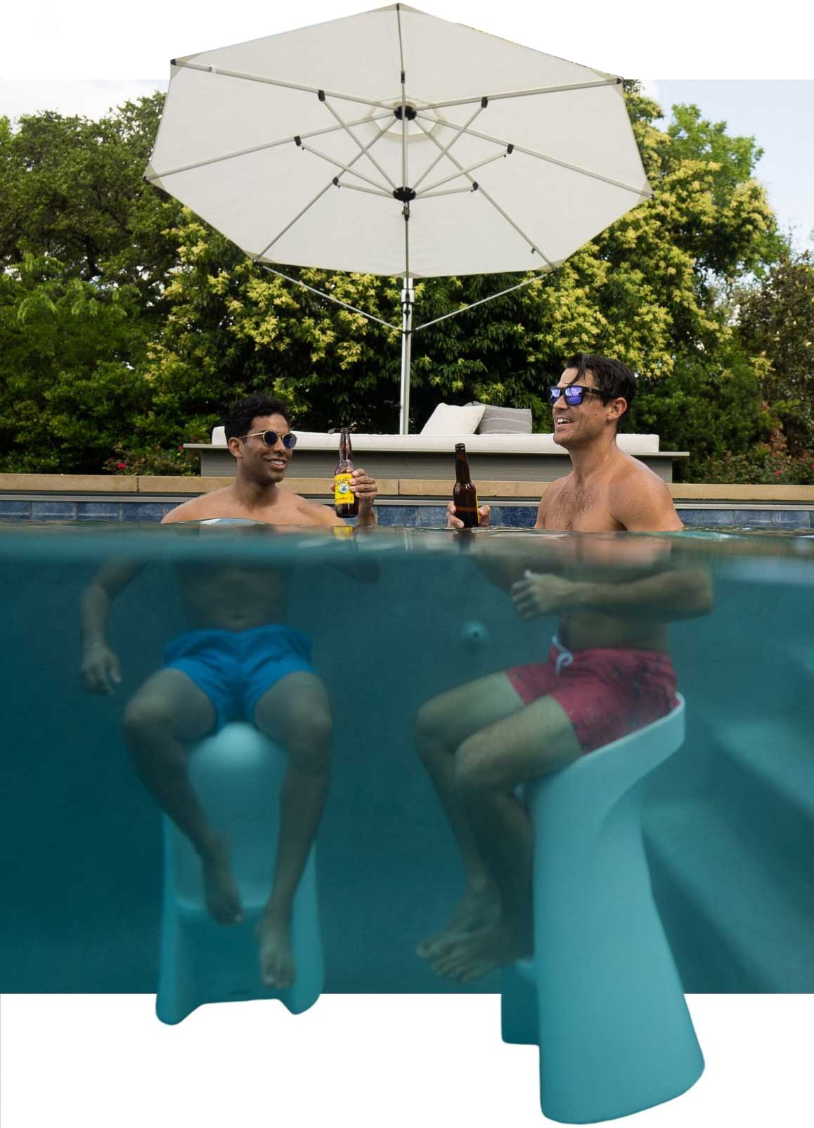 ledge-lounger-barstool-austin-texas underwater