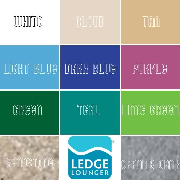 Ledge Lounger Color Finishes for Signature Series Furniture