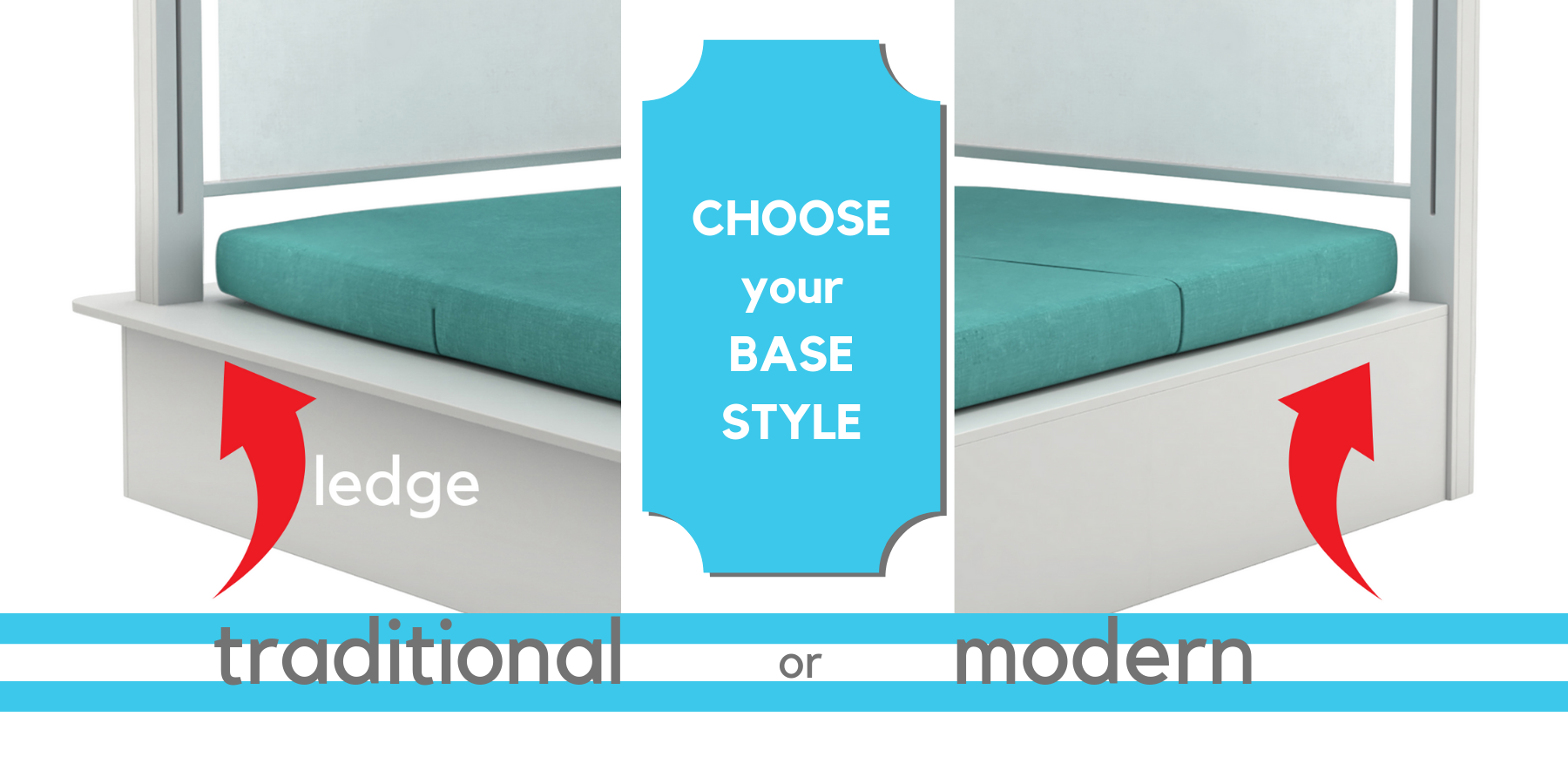 Shift Daybed Base Options by Ledge Lounger