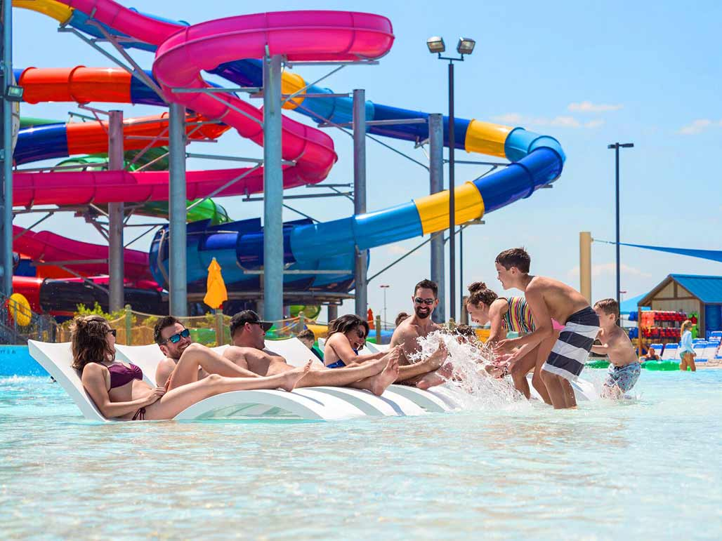 Submersible Ledge Loungers Signature Chaises are perfect at the waterpark or luxury resort