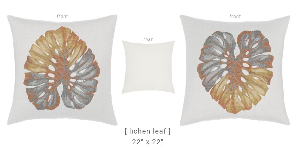 lichen-leaf-metallic-pillows from Elaine Smith