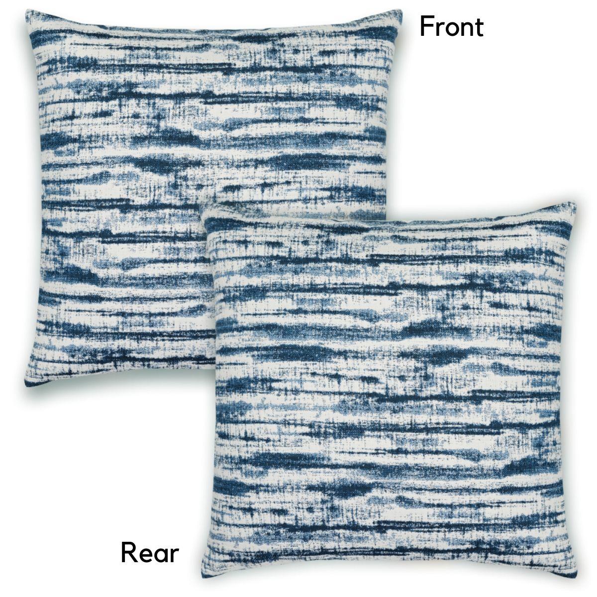 Elaine Smith Linear Indigo Pillow Back Side View