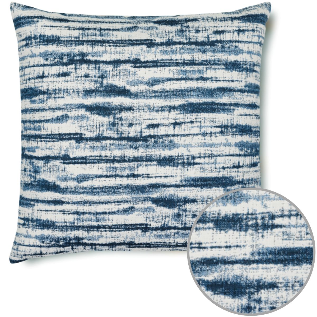 Elaine Smith Linear Indigo Pillow