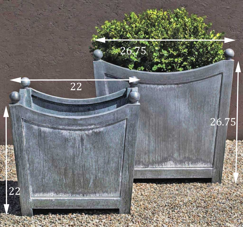 loire-square planter dimensions