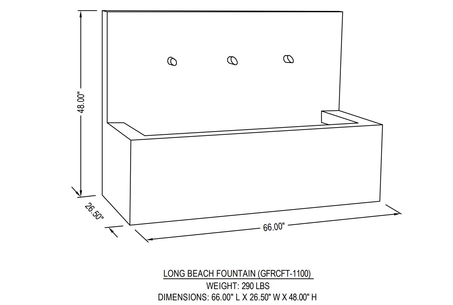 long-beach-fountain-dimensions