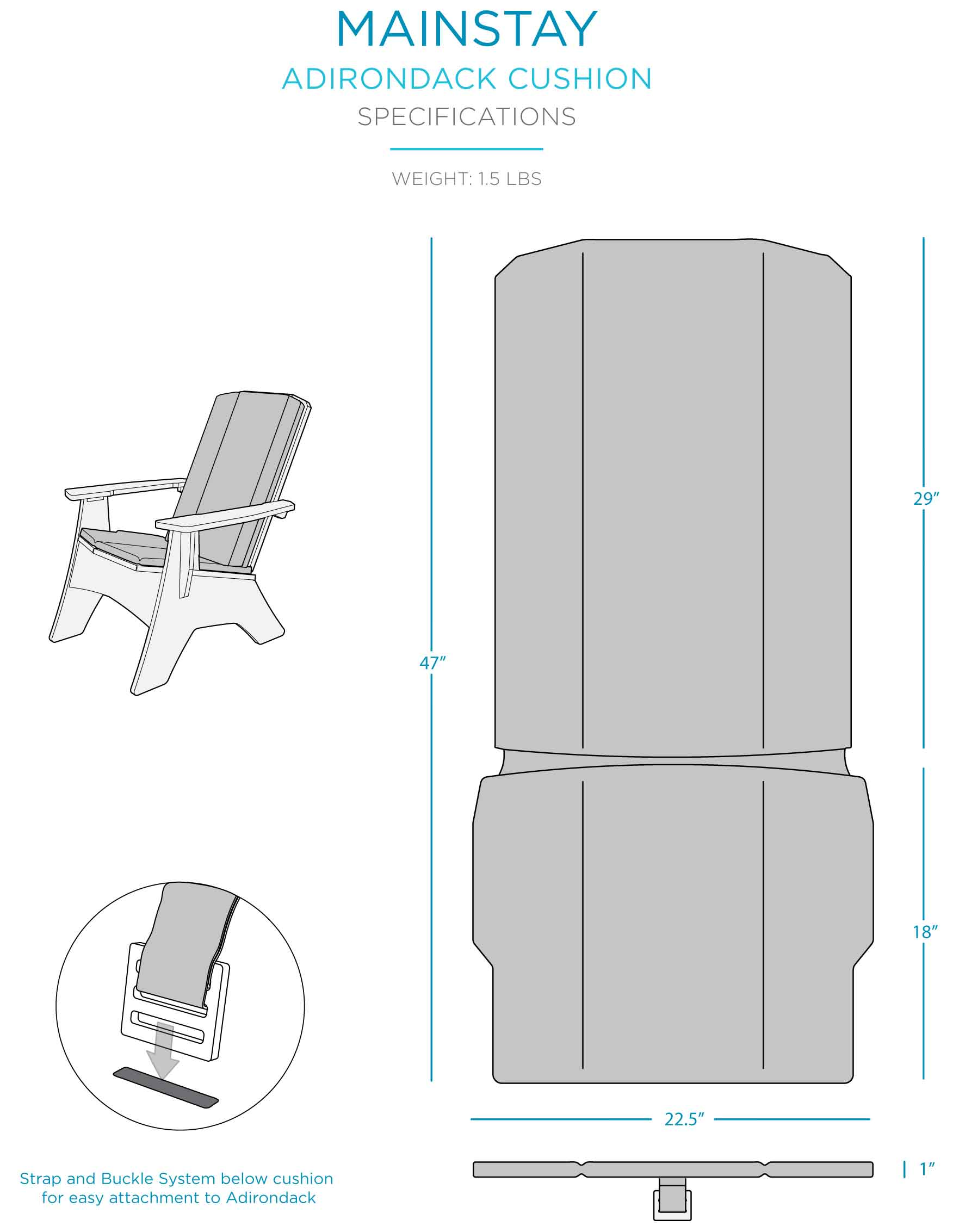 mainstay-adirondack-cushion-specifications