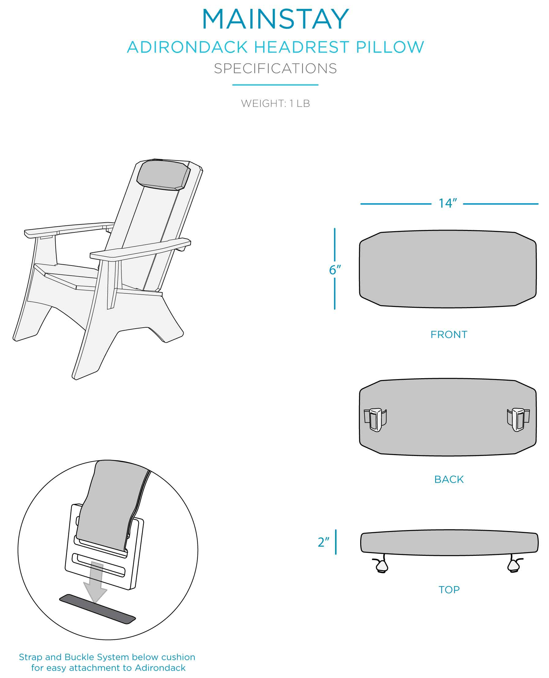 mainstay-adirondack-headrest-pillow-specifications