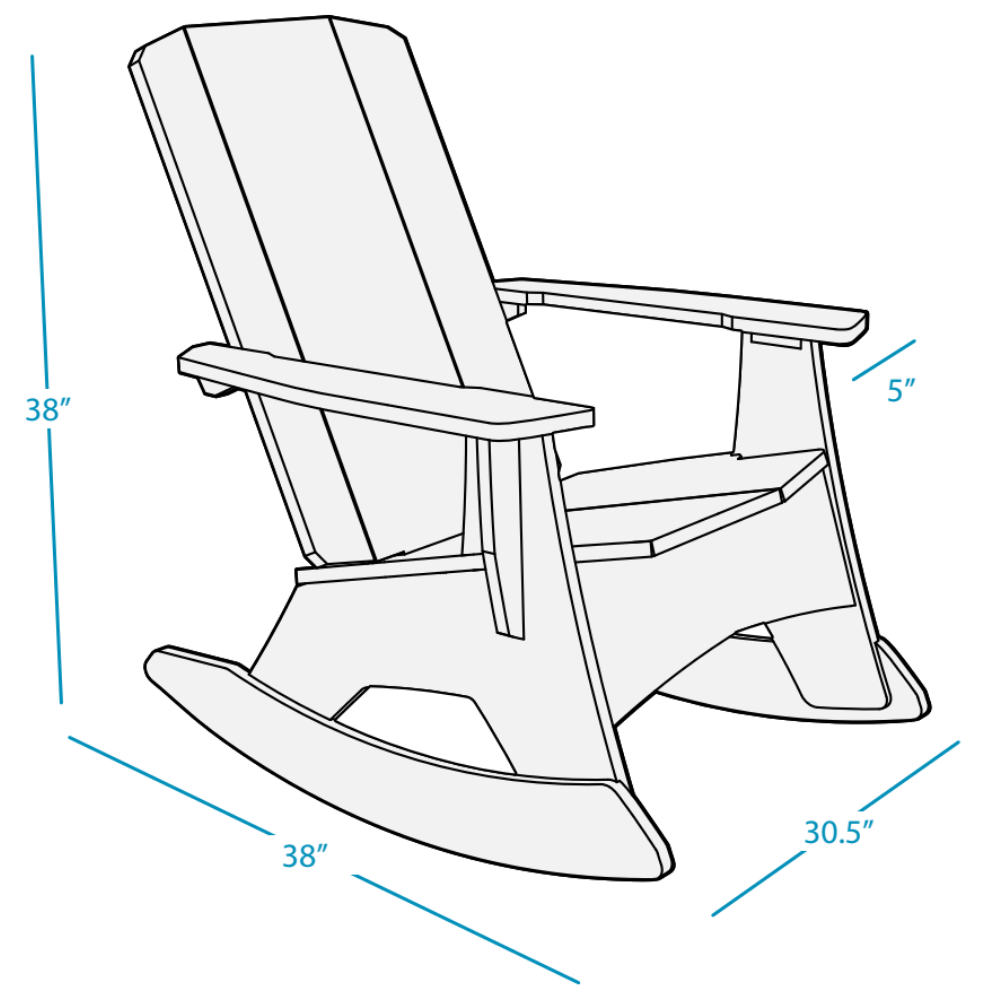 The Ledge Lounger Mainstay Adirondack Rocker Dimensions