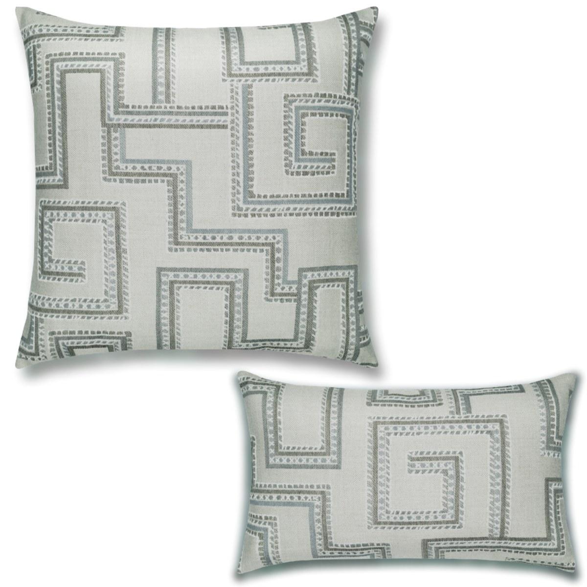 Sunbrella maze-pillow-set by Elaine Smith