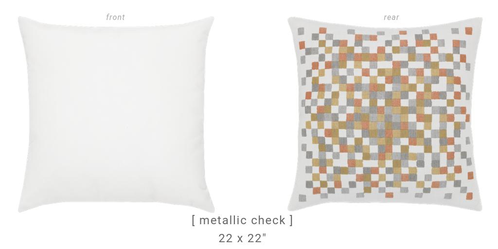 metallic-check-square-pillows by Elaine Smith