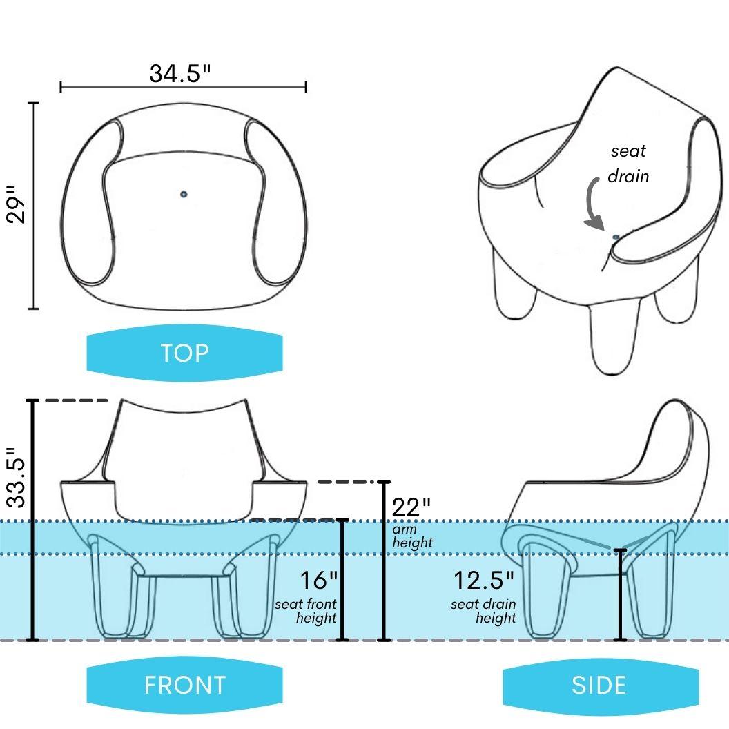 mibster-splash chair-water-height-dimensions