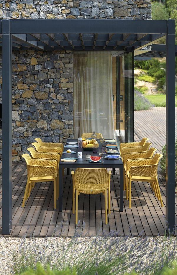 nardi-net-chair in custom yellow