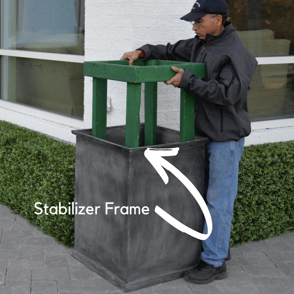 obelisk-stabilizer for the UV protected boxwood