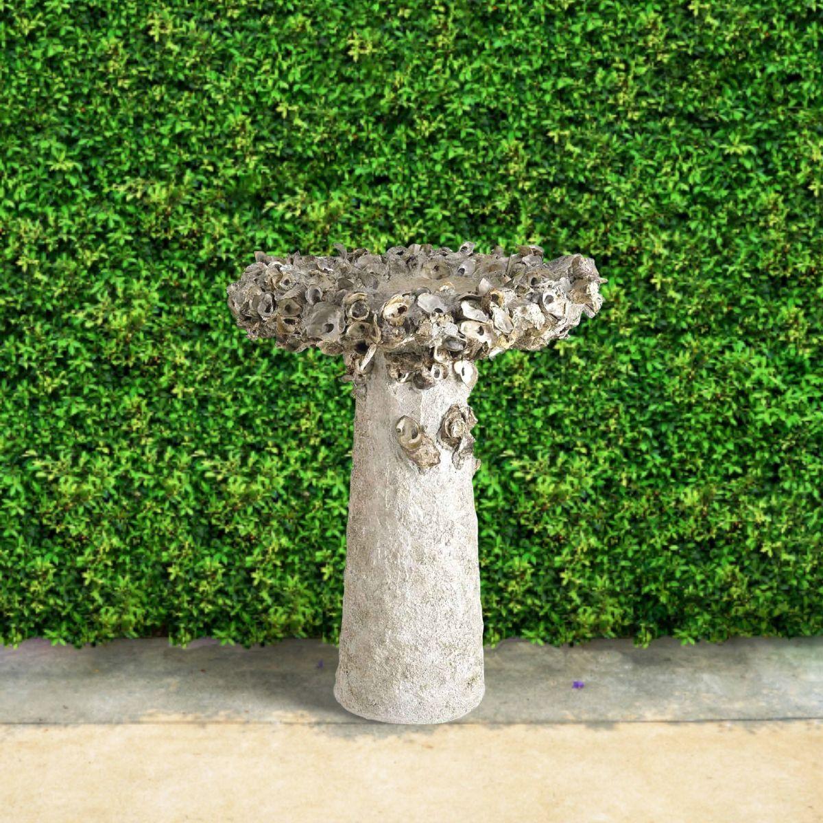 oyster-shell-birdbath-fountain-outdoors