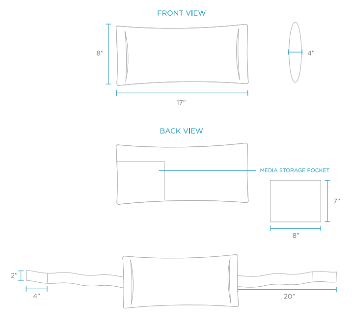 ledge lounger headrest-pillow-dimensions