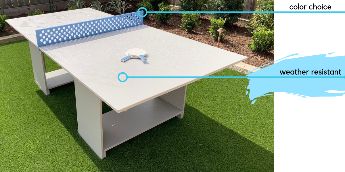 Ledge Lounger Outdoor Ping Pong Game Table