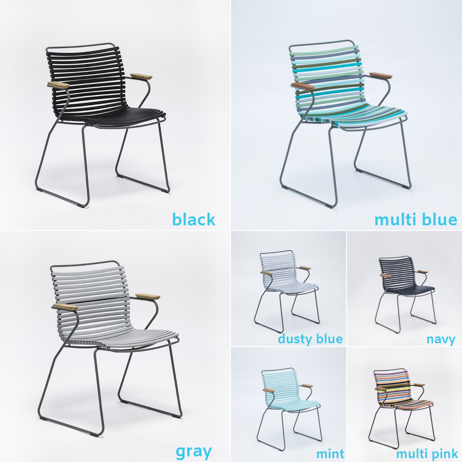 Playnk Dining Chairs in a full array of color options