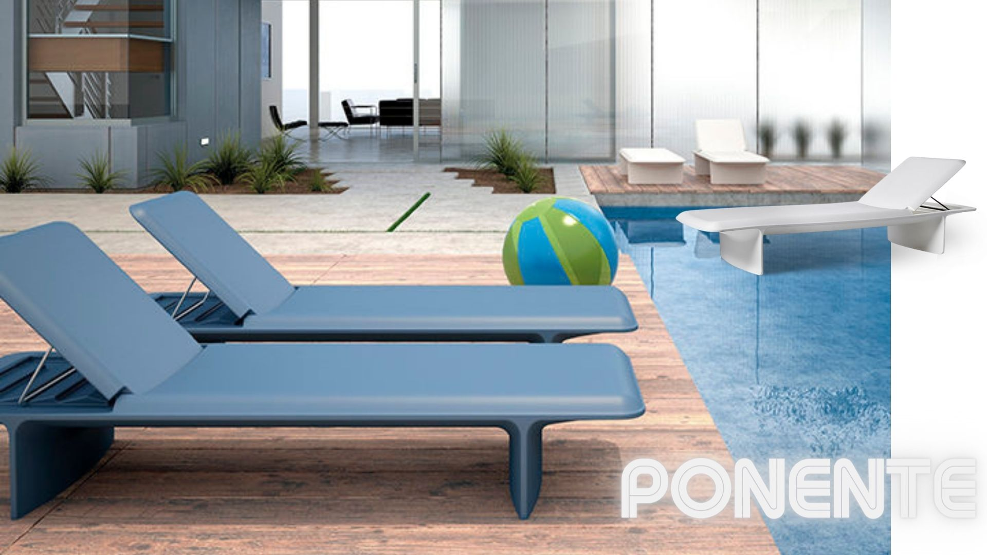 ponente-pool chaise-slide design