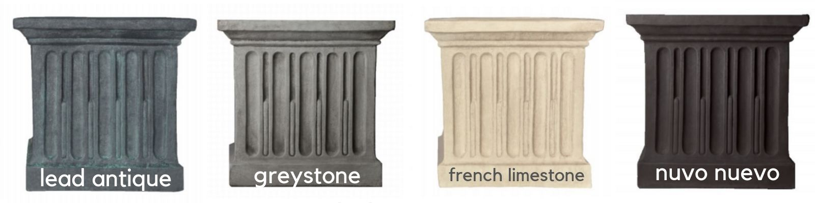 Portofino Lions Head Fountain is available in 4 finishes