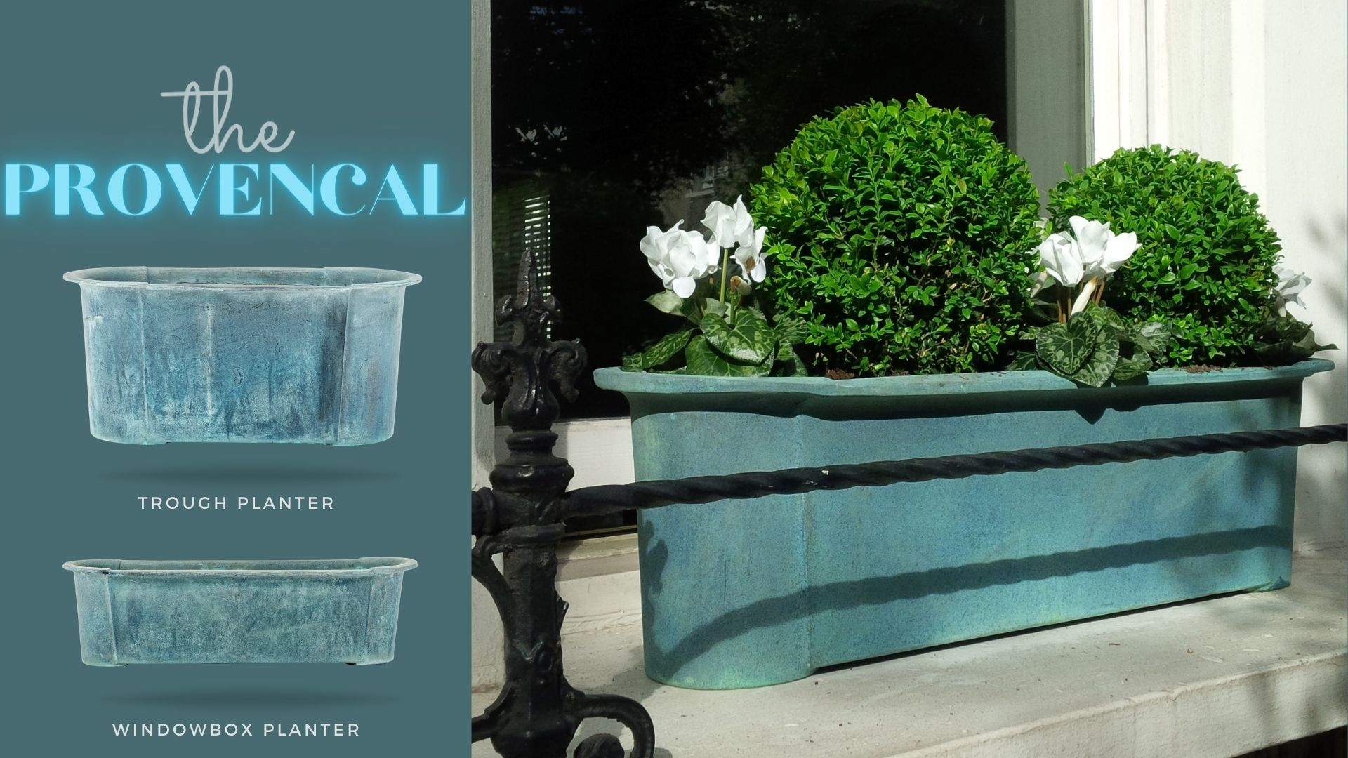provencal-planter trough and windowbox style
