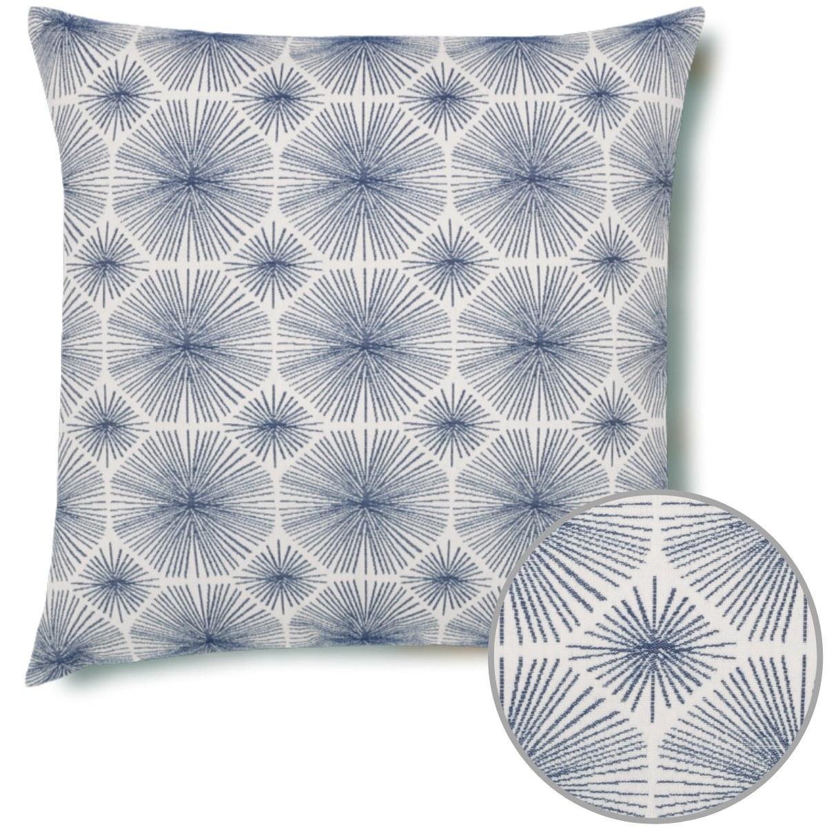 Radiance Indigo Elaine Smith Pillow