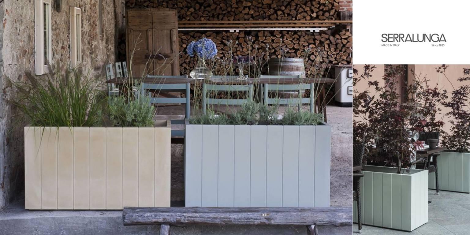 serralunga italy trough planters