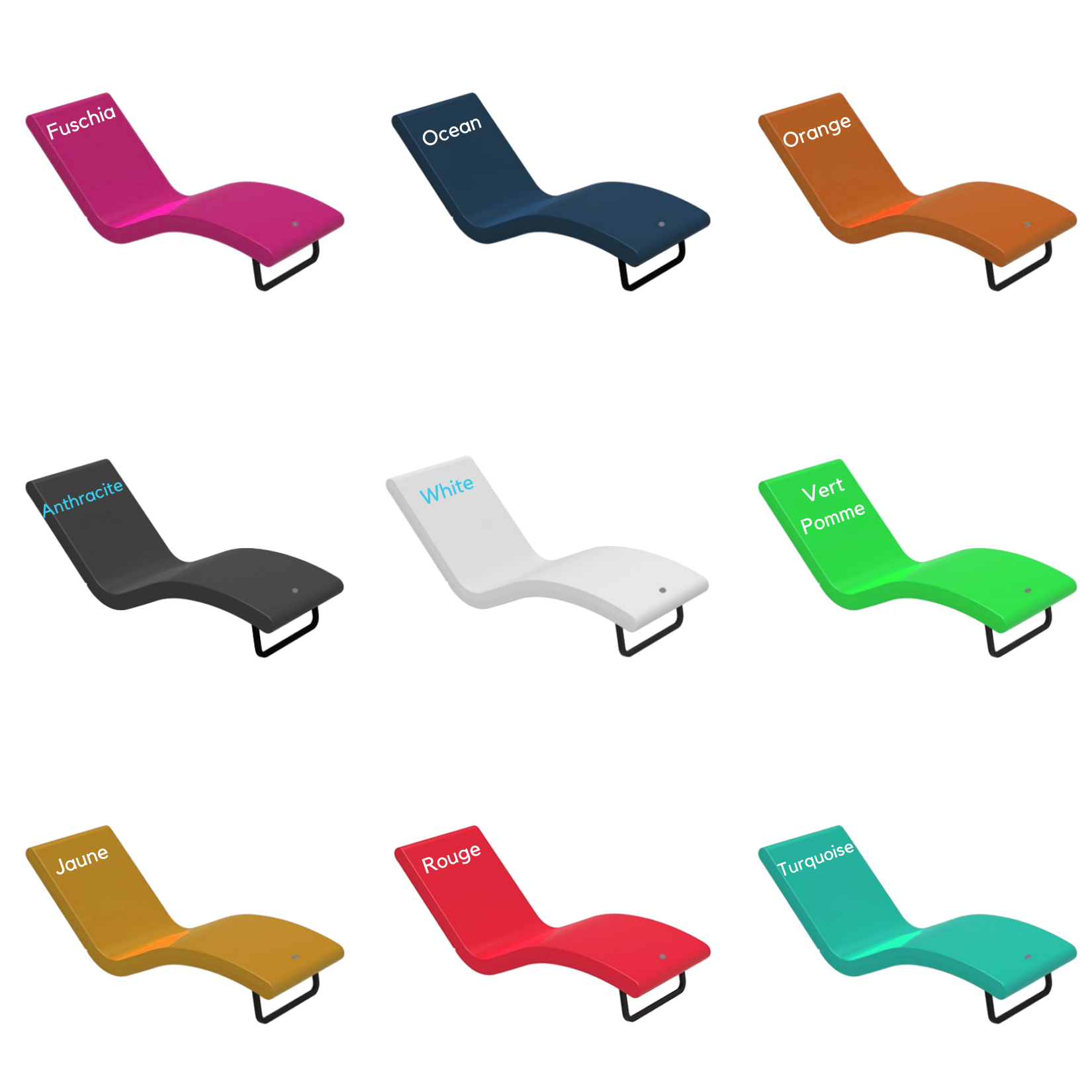 The Siesta Chaise is available in multiple colorways
