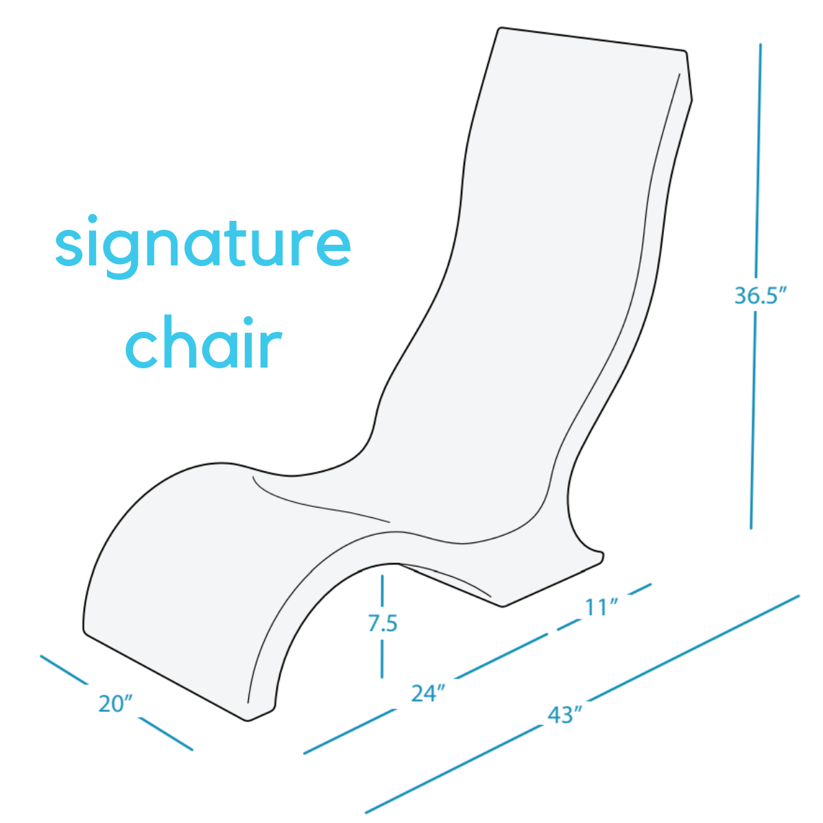 Ledge Lounger signature-chair-dimensions