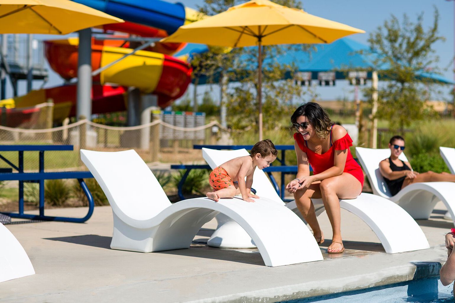 Children love the Signature Chaise Deep from Ledge Lounger