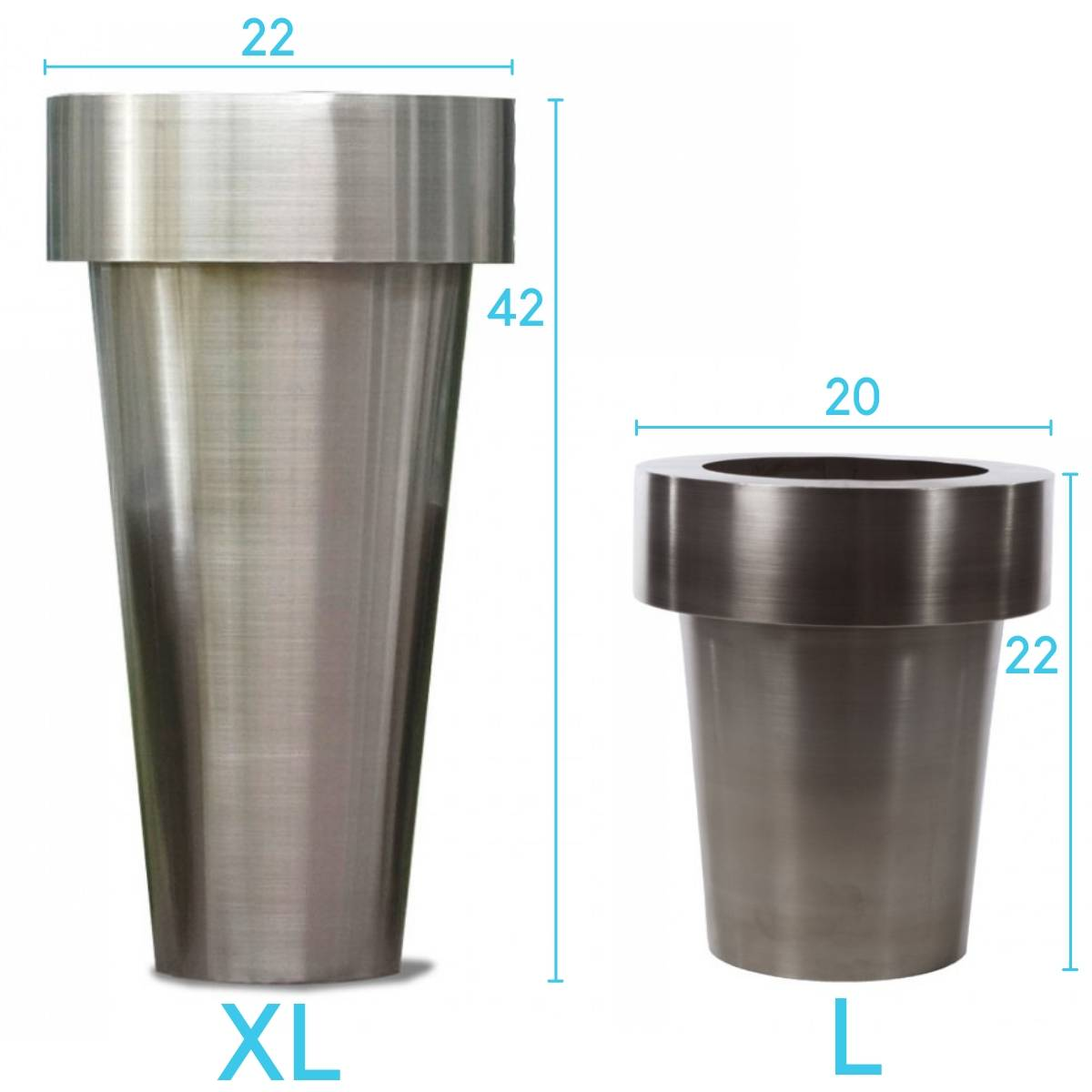 Size variance of Stainless Steel Planters