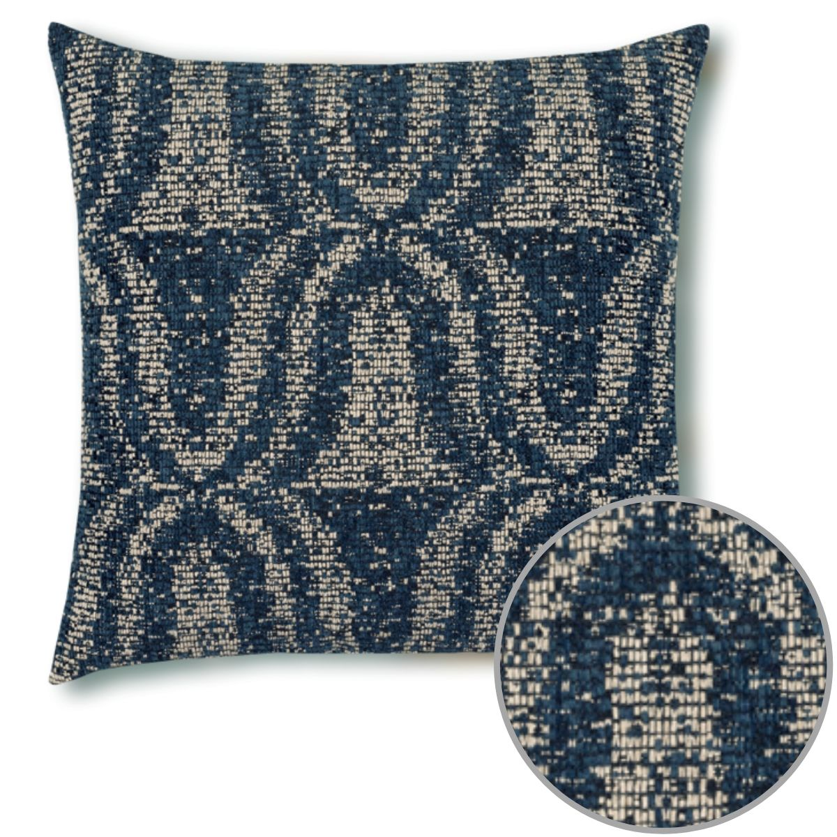 sumptuous-indigo-11q2 Pillow by Elaine Smith with inset detail