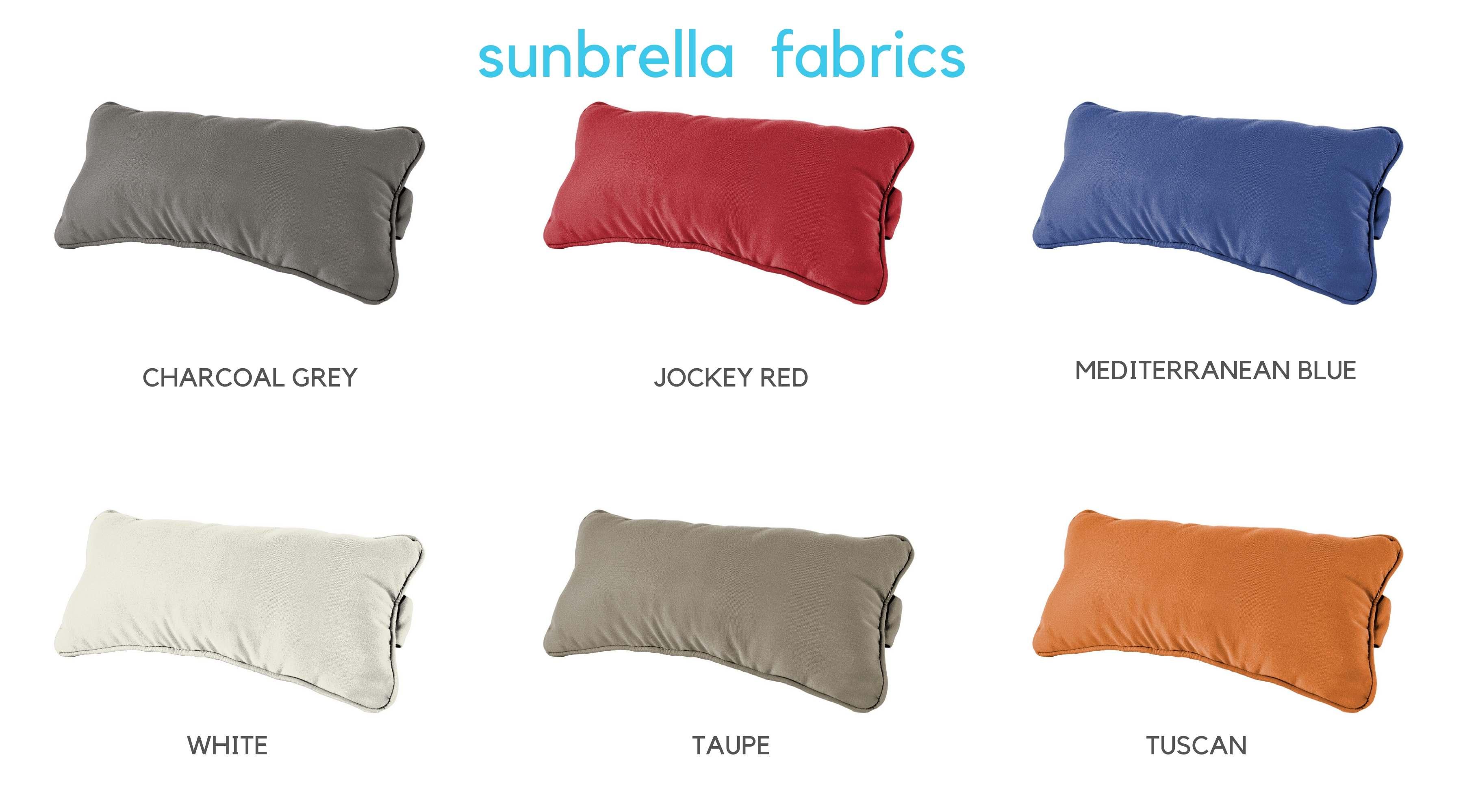 Ledge Lounger sunbrella fabric options for headrest