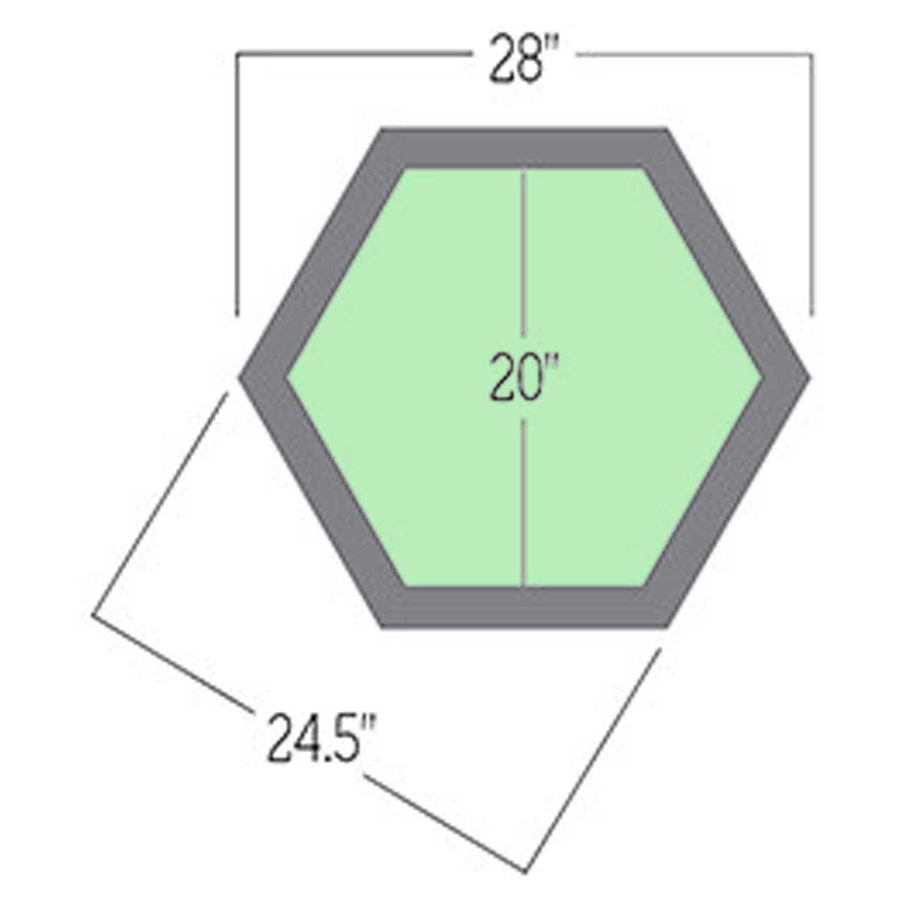 topaz-hex-planter dimensions