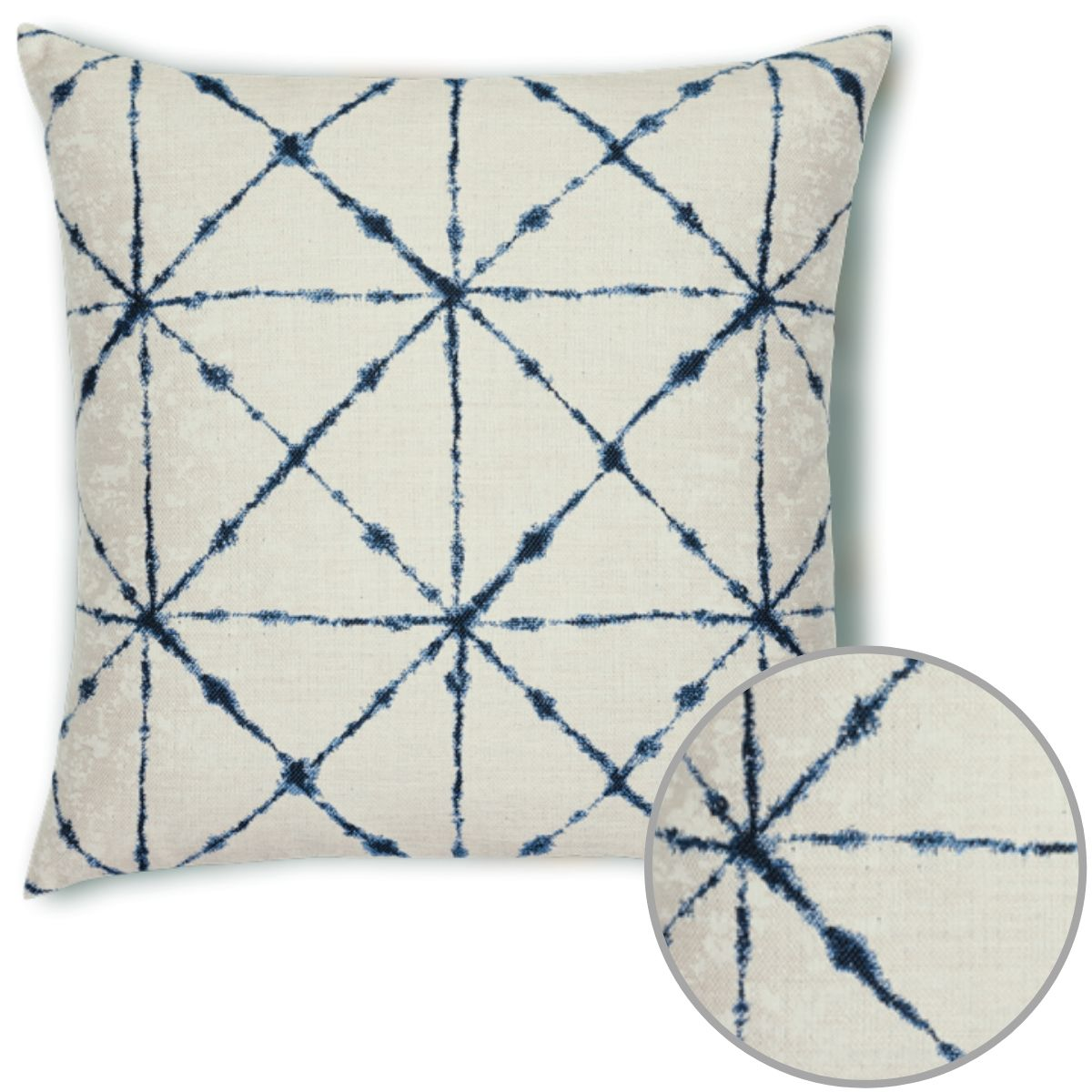 trilogy-indigo-pillow sunbrella by Elaine Smith
