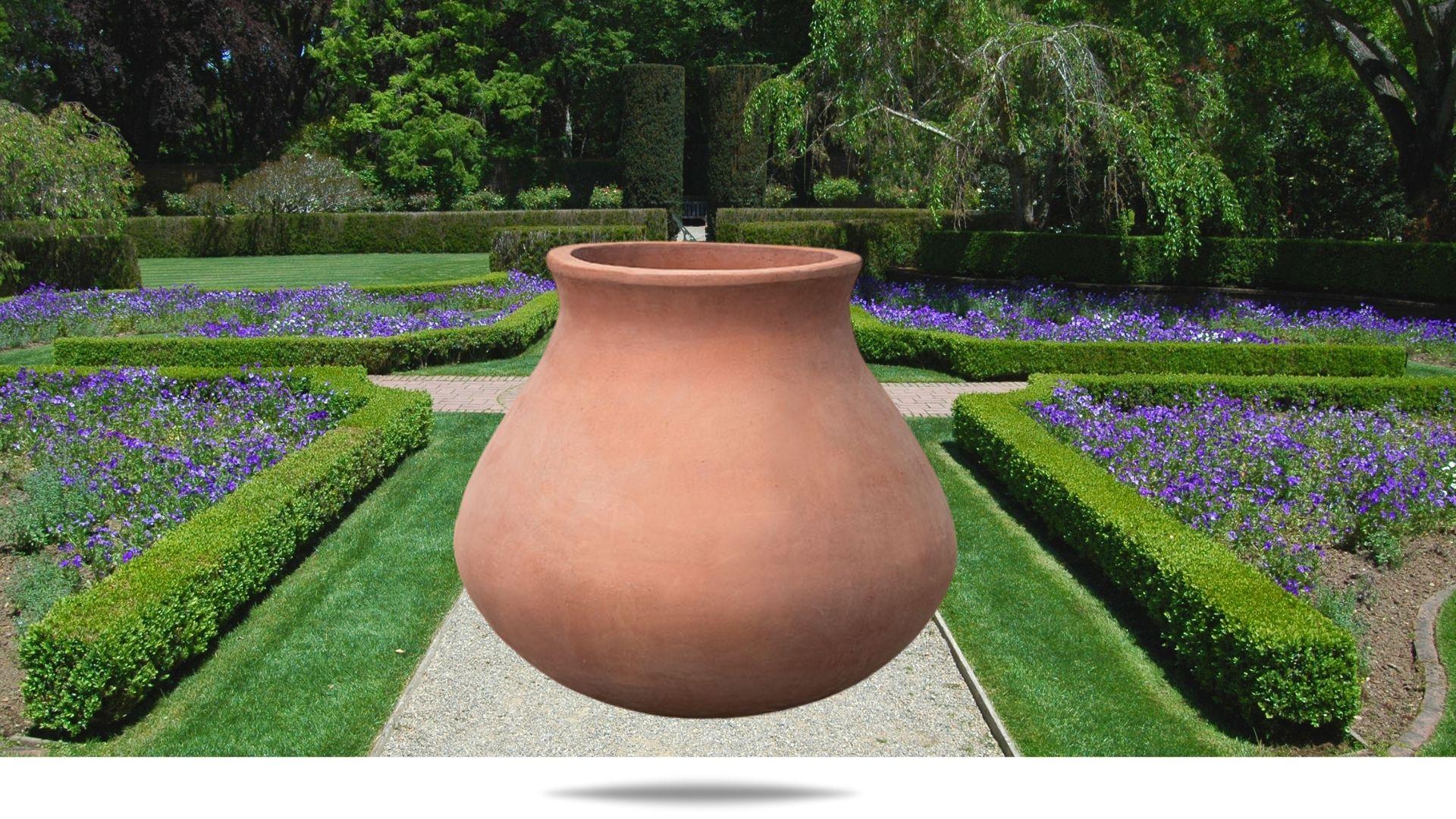 venasque-jar-planter campania terracotta
