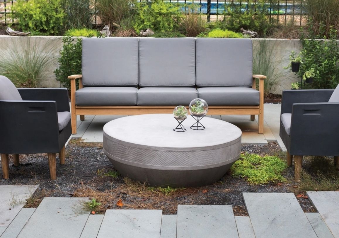 werner-table outdoor lightweight concrete coffee table