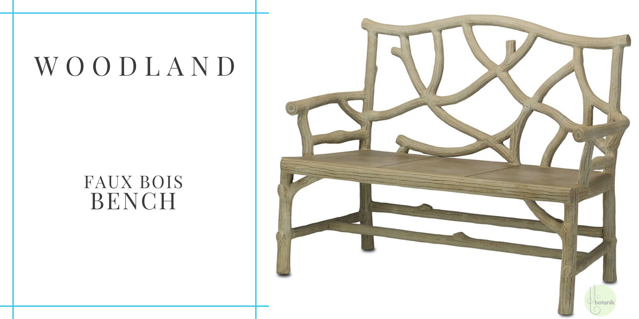 woodland-faux-bois-bench-from currey