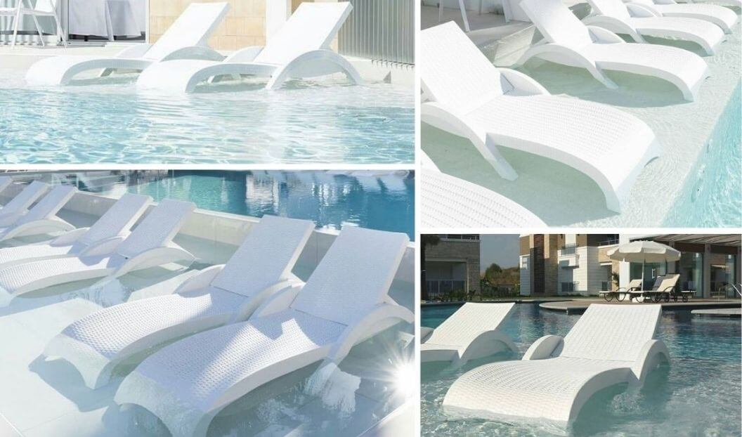 alternative ledge lounger wovenlook-white-chaise-in-pool
