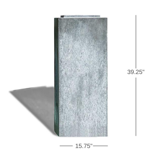zinc-column-pedestal-dimensions