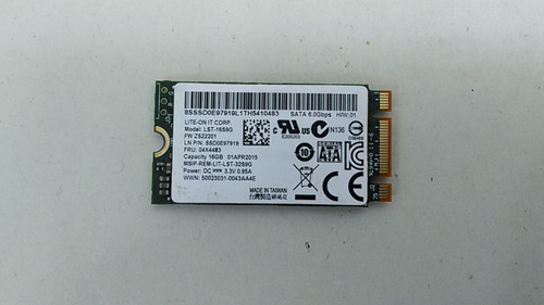 Lot of 5 LiteOn LST-16S9G 16GB 42mm M.2 Solid State Drive