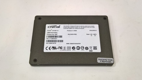 Lot of 5 Crucial  M4 CT128M4SSD1 128 GB SATA III 2.5 in SSD