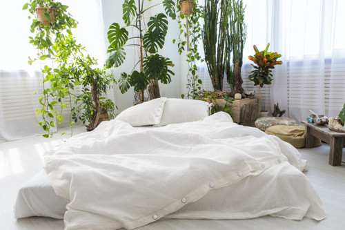Linen Pillow Cases in *Off-White / Cream* Twin / Euro / King