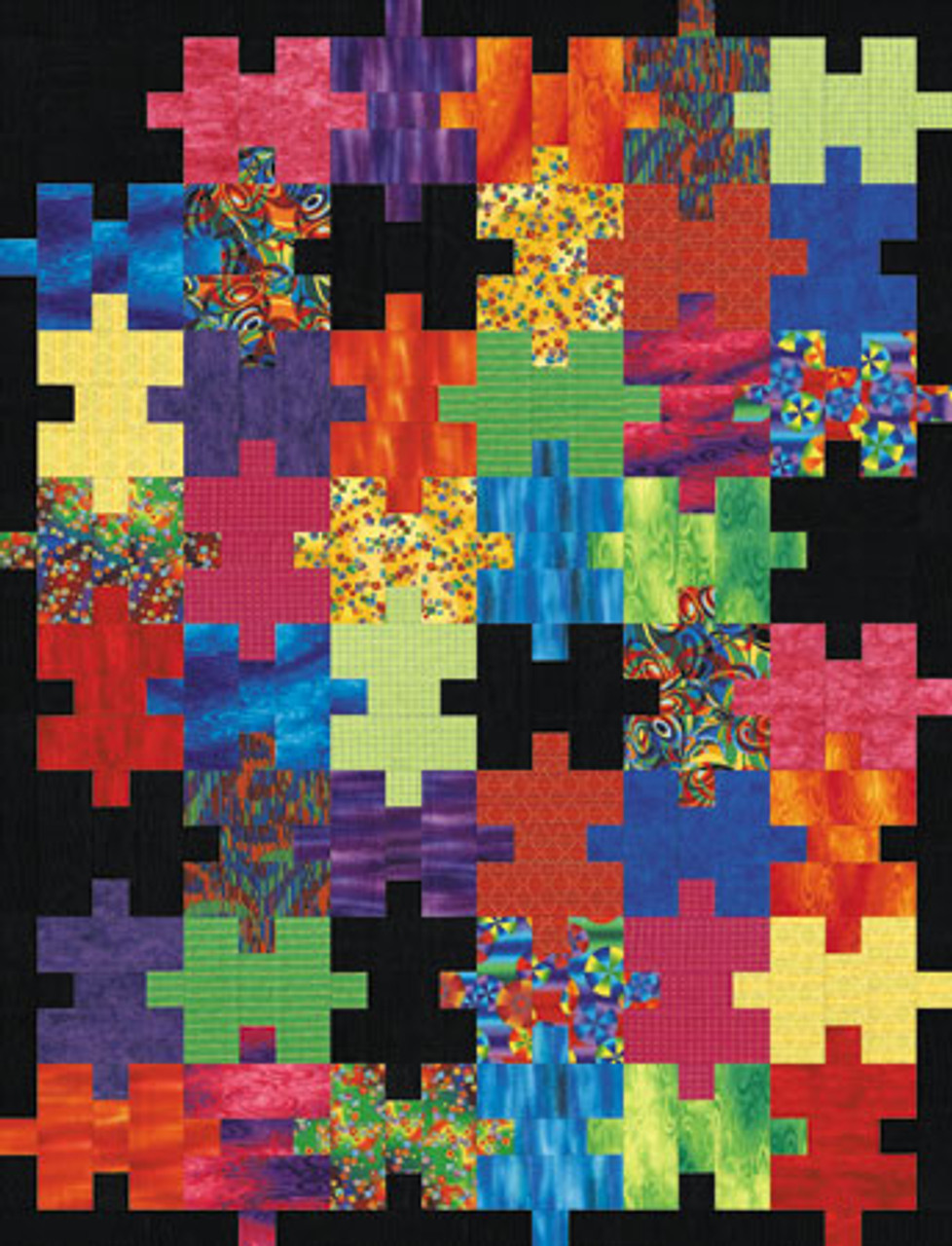 """New Pieced Quilt Pattern SETTLER/'S PUZZLE 56/"""" x 68/"""""""