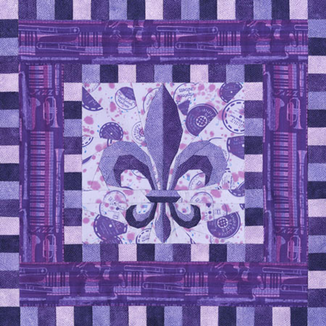 """New Foundation Pieced Quilt Pattern BALI BUTTERFLY 33/"""" x 33/"""""""