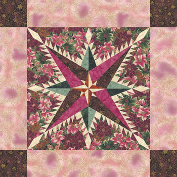 Feathered Lights Paper Pieced Quilt Pattern