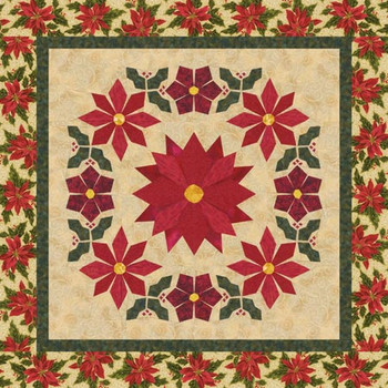 Winter Wreath Paper Pieced Quilt Pattern