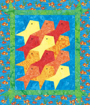 Goldfish Crib Paper Pieced Quilt Pattern