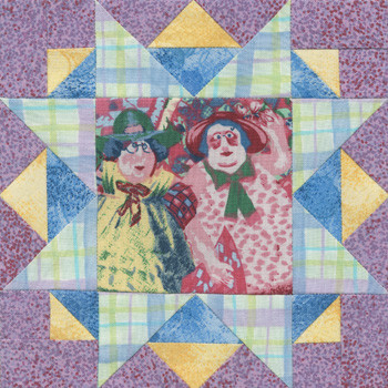 Happy Quilter's Star Paper Pieced Quilt Block Pattern